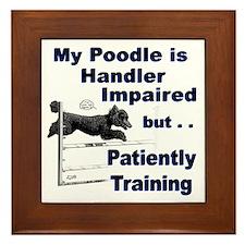 Poodle Agility Framed Tile
