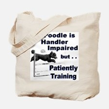 Poodle Agility Tote Bag