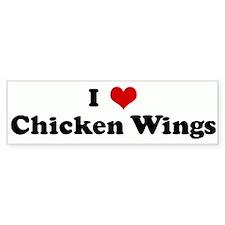 I Love Chicken Wings Bumper Car Sticker