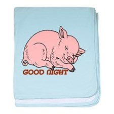 Good Night Piggy baby blanket