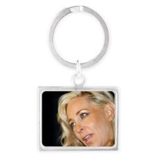 Blond Woman Landscape Keychain