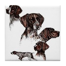 German Shorthaired Pointer Tile Coaster