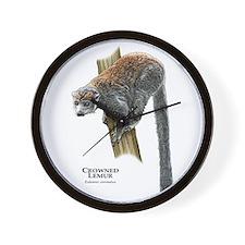 Crowned Lemur Wall Clock