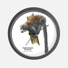 Crowned Lemur Wall Clock