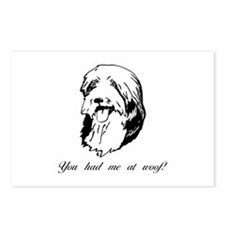 You had me at woof (bearded collie) Postcards (Pac