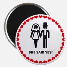 She Said Yes! (Smile / Hearts)  Magnet