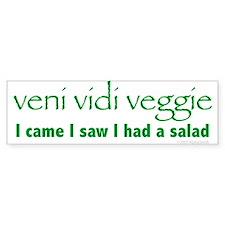 Veni Vidi Veggie Bumper Bumper Sticker