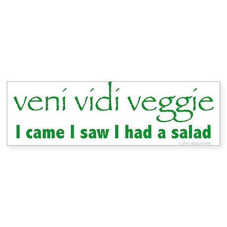 Veni Vidi Veggie Bumper Sticker