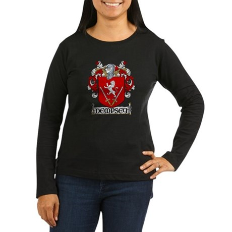 Dempsey Coat of Arms Women's Long Sleeve Dark T-Sh