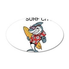 Surf City Wall Decal