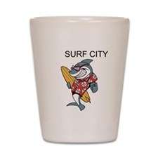 Surf City Shot Glass