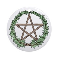 Ivy Pentacle -  Ornament (Round)