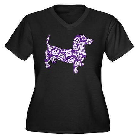 Hawaiian Doxie Dachshund Plus Size T-Shirt