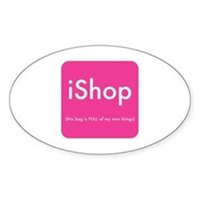 iShop Sticker for your shopping bag (Oval)