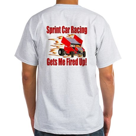 Fired Up Winged Sprint Ash Grey T-Shirt