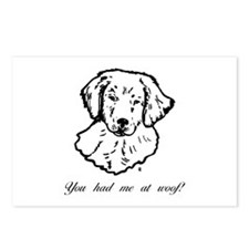 You had me at woof (golden) Postcards (Package of