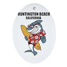 Huntington Beach, California Ornament (Oval)