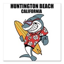 Huntington Beach, California Square Car Magnet 3""