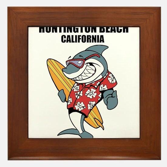 Huntington Beach, California Framed Tile