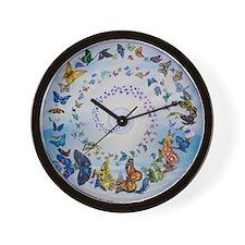 Butterfly Mandala * Transformation Wall Clock