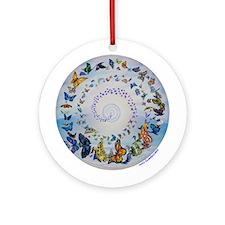 Butterfly Mandala * Transformation Ornament (Round