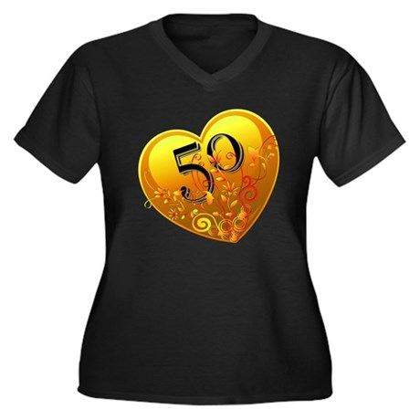 50th Golden Anniversary Women's Plus Size V-Neck D