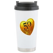 50th Golden Anniversary Travel Mug