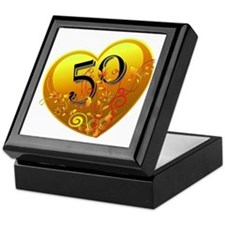 50th Golden Anniversary Keepsake Box