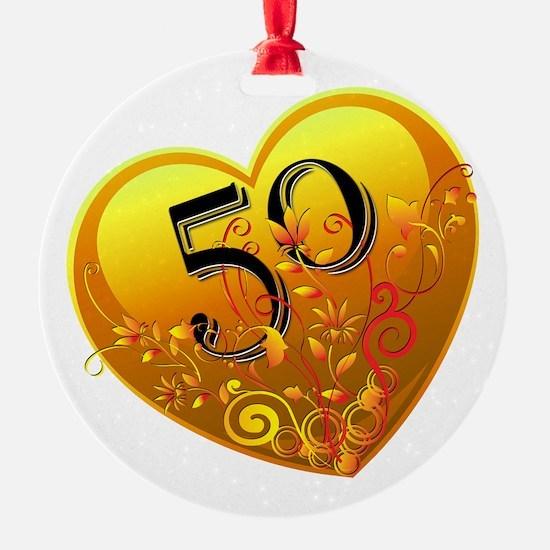 50th Golden Anniversary Ornament