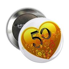 "50th Golden Anniversary 2.25"" Button"