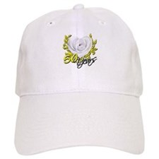 50 Years White Rose Baseball Baseball Cap