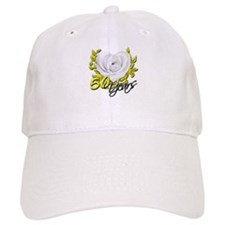 50 Years White Rose Baseball Cap
