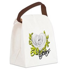 50 Years White Rose Canvas Lunch Bag