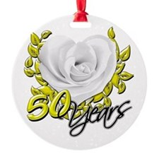 50 Years White Rose Ornament
