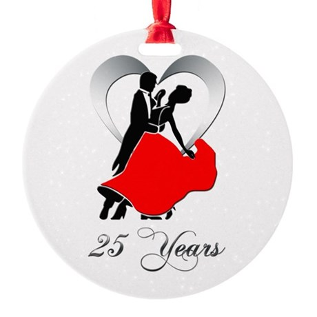 25th wedding anniversary ornament. 25th wedding anniversary ornament