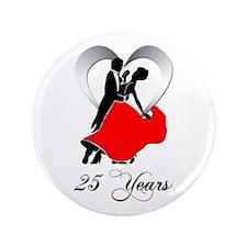 "25th Wedding Anniversary 3.5"" Button"