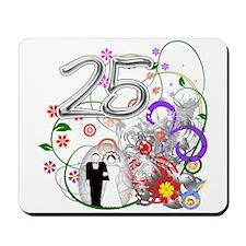 25th Silver Anniversary Mousepad
