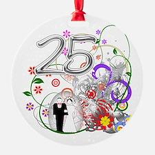 25th Silver Anniversary Ornament
