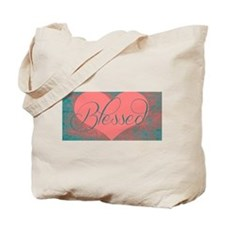 blessed heart dark pink Tote Bag