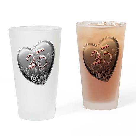 25th Anniversary Drinking Glass