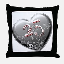25th Anniversary Throw Pillow