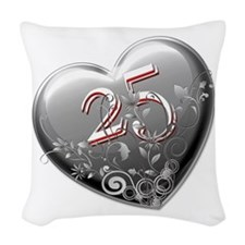 25th Anniversary Woven Throw Pillow