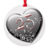 25th anniversary Round Ornament
