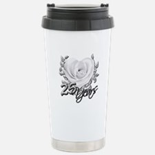 Silver Anniversary Rose Travel Mug