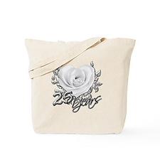 Silver Anniversary Rose Tote Bag