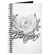Silver Anniversary Rose Journal