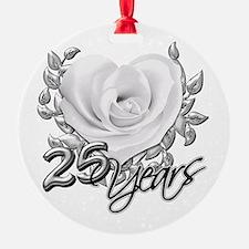 Silver Anniversary Rose Ornament