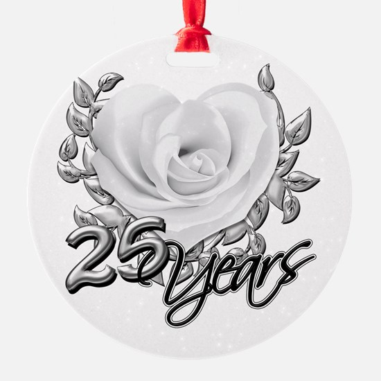 Silver Anniversary Rose Ornament