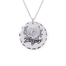 Silver Anniversary Rose Necklace