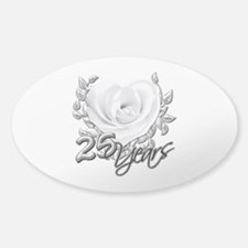 Silver Anniversary Rose Decal